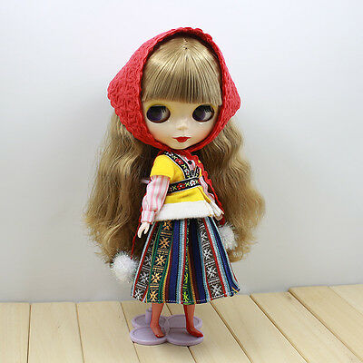 "12/"" Blythe Doll Factory Blythe/'s Khaki Windbreaker Coat And Hat Suit"