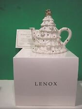 LENOX THE JEWELED CHRISTMAS TREE TEAPOT New in Box with COA