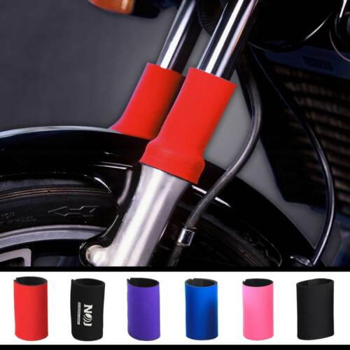 Neoprene Motorcycle Fork Guards Made in Minneapolis by NOJ Gear USA.