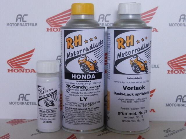 Honda CB 350 Four Lack Lacksatz Farbe Candy Bacchus Olive Paint Color Kit SOHC