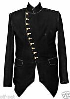 Black Rock  Steampunk Jacket Military Tunic  SMOOTH NUBUCK LEATHER All Sizes