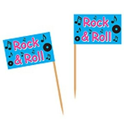 ROCK AND ROLL 50'S PARTY FOOD CUPCAKE 50 PICKS BIRTHDAY PARTY!