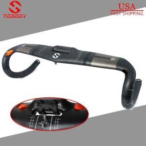 Superlight Carbon Fiber Road Bike Handlebar Racing Drop Bars 31.8*400//420//440mm