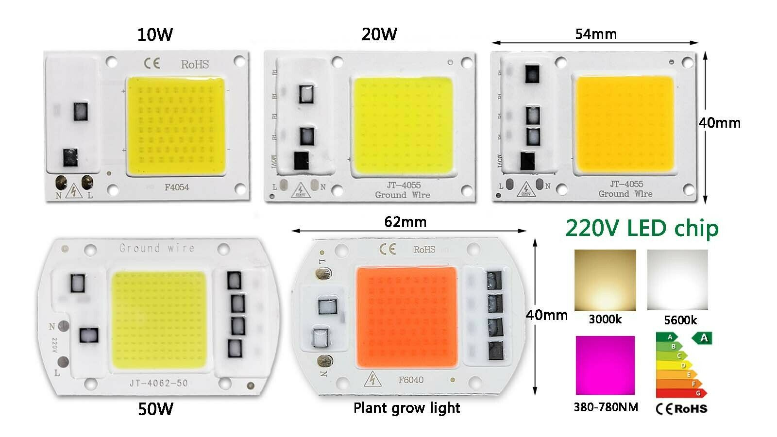 COB LED Chip 20W 33V 600mA 2000lm 3000K lextar PB20U01 3000K Power LED 28x28