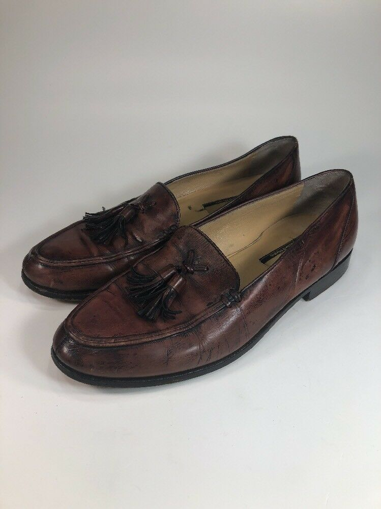 Domani Distressed Learher Tassel Loafers Mens Size 8.5 M