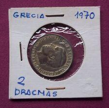 MONEDAS DEL MUNDO GRECIA 1970 2 Dracmas