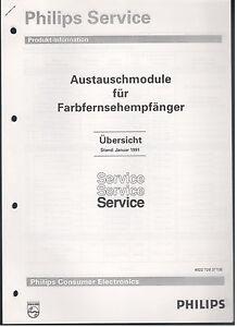 Anleitungen & Schaltbilder Service Manual Philips 1991 Austauschmodule Für Farb Tv Stabile Konstruktion