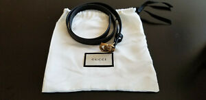 Authentic-Gucci-Black-Leather-belt-with-Double-G-Buckle-Gold-80cm-Gucci-Store