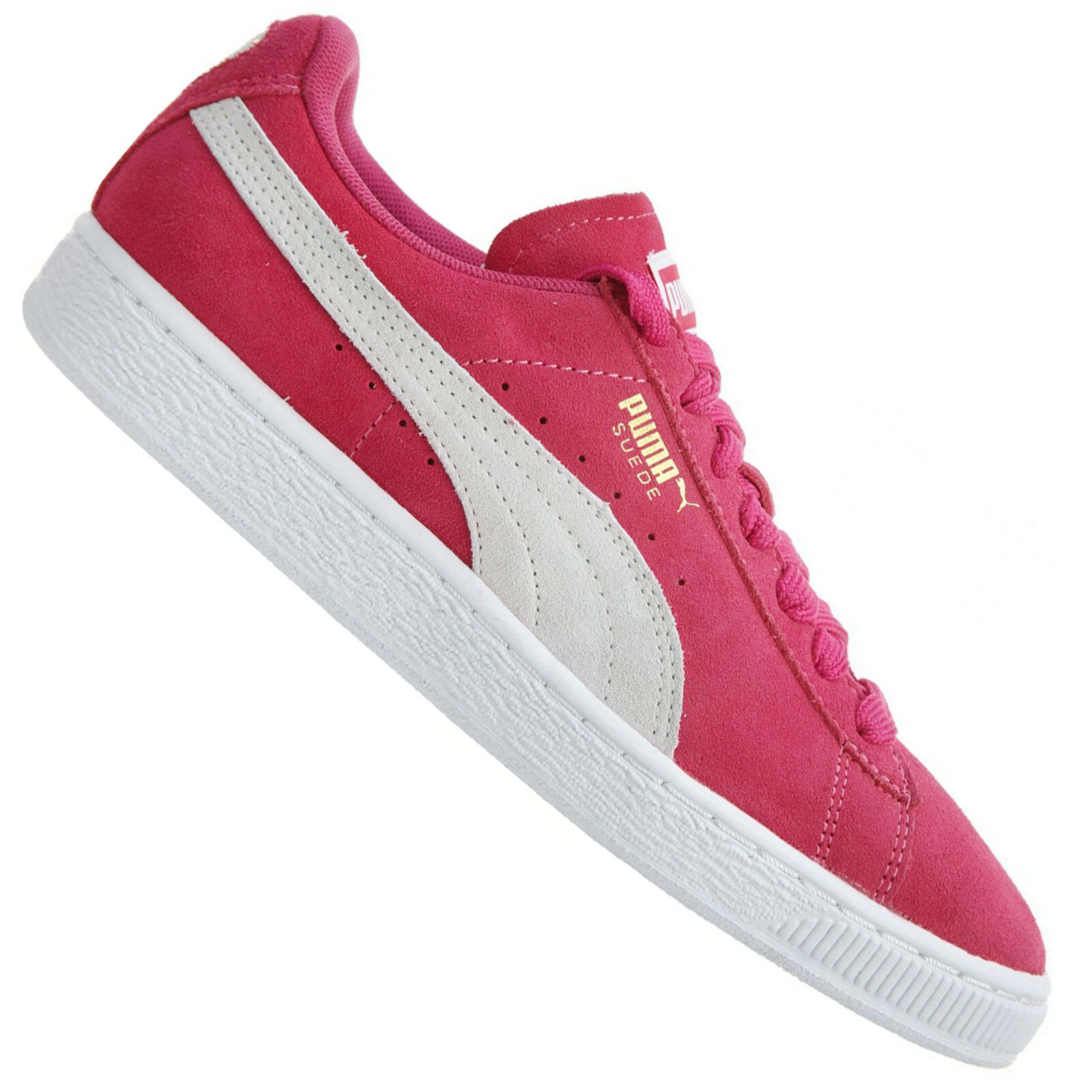 Puma Originals Suede Classic Womens Trainers Suede Sneakers Pink White