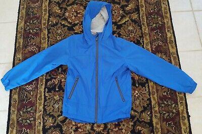 Boys Lightweight Water Resistant Zip-Up Hooded Windbreaker Jacket