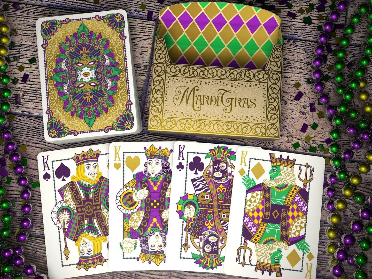 CARTE DA GIOCO MARDI GRAS poker size by epcc