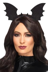 Pipistrello per capelli maturi NERO accessorio Carnevale FASCIA PER CAPELLI bat wings Headband