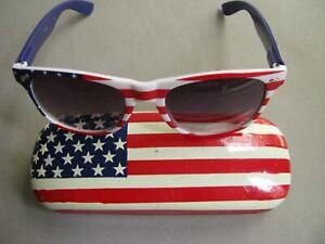 3f93e933c99 Image is loading AMERICAN-FLAG-USA-PRINT-Vintage-SUNGLASSES-STARS-AND-