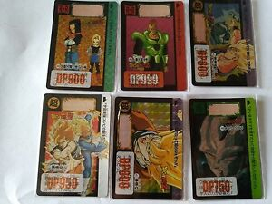 36 REGULAR CARDS DRAGON BALL Z CARDDASS 2016 REPRINT PART 9 SET 6 PRISM