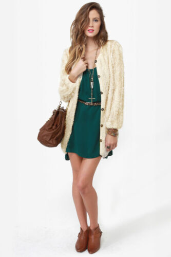 Beige uk12 Darling £75 Rrp Sweater Corina Cardigan Medium Size Ladies FF01qOf