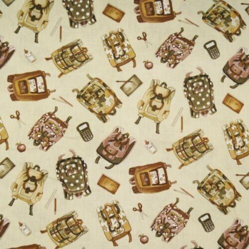 Venta 100/% Tela De Algodón Henry Glass Vintage Escolar Mochilas pulverizad blocs de notas