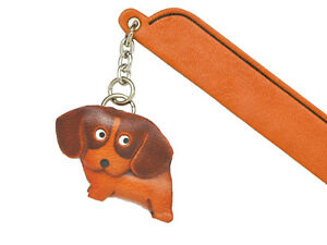 Beagle Leather dog Charm Bookmarker *VANCA* Made in Japan #61704