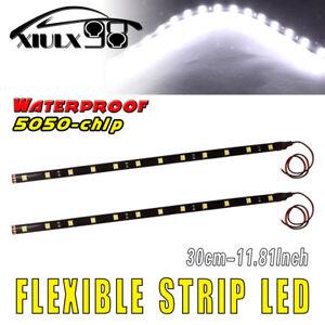 2pcs-12-034-White-Car-Motor-Boat-LED-Underbody-Light-Strip-5050-SMD-Waterproof-12V