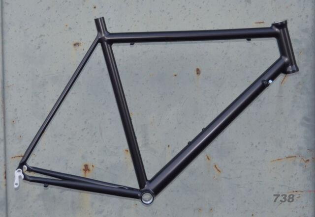 Onroad Lite Rennrad Rahmen RH 60 cm in schwarz matt 1660g FUR NR738