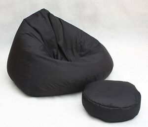 Divano piccolo +pouf nero per bambino salotto puff puf | eBay