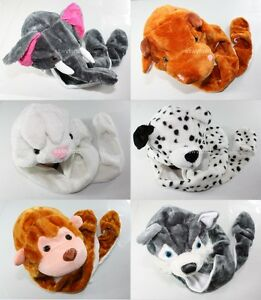 Winter-Animal-Hat-Scarf-Pocket-Plush-Warm-Fluffy-Cute-Soft-Fuzzy-Cartoon-Lovely