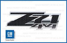 2 - Z71 4x4 FSCFB - GMC Sierra 07-13 Decal Sticker Chevy Silverado Carbon Fiber