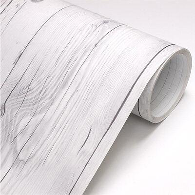 Vintage White Wood 3m * Panel Sheet Self Adhesive Peel-Stick Wallpaper no344
