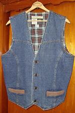 WRANGLER Outerwear Denim Flannel-lined Suede-Trimmed Western Vest