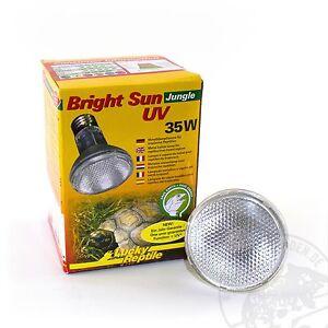 Lucky-Reptile-Bright-Sun-UV-Jungle-35-Watt-UVA-UVB-Strahler-Neu-fuer-Reptilien