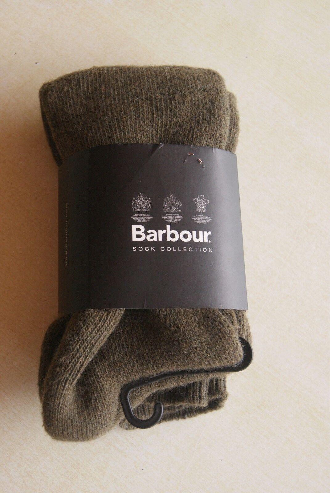 Barbour Wellington Chaussettes genou Vert Olive taille 36 / € 38 étiquetée 34.95 € / 2f8e3b
