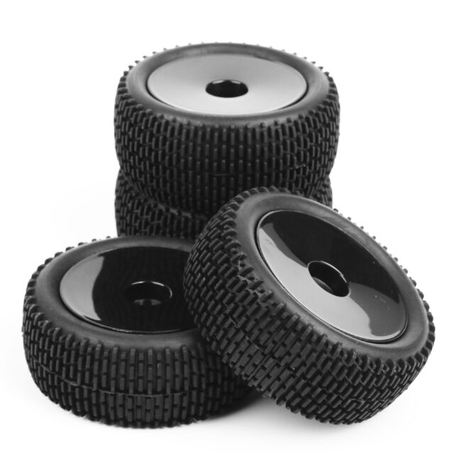 4Pcs 12mm Hex Rubber Front&Rear Tires+Wheel For HSP RC 1:10 Off-Road Buggy CAR