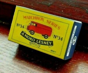 LESNEY-MATCHBOX-NO-34A-VOLKSWAGEN-15CWT-VAN-REPLACEMENT-CUSTOM-DISPLAY-BOX-ONLY