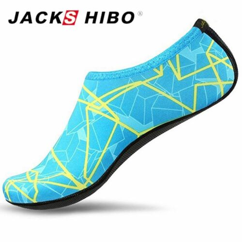 JACKSHIBO Summer Water Shoes for Women Big Plus Size Aqua Beach Shoes Woman