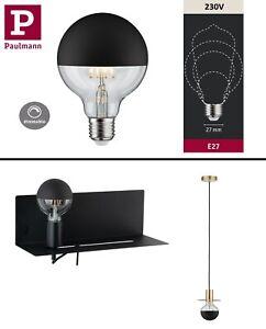Paulmann-LED-Globe-6-5-Watt-E27-Kopfspiegel-D-125mm-Schwarz-Warmweiss-dimmbar