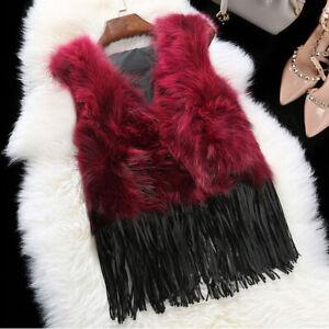 Faux Fur Fringed Fuzzy VestWhite