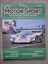 Motor Sport (Nov 1986) Toyota Supra, Ralt RT30-VW,Jaguar XJ6, BMW 7 series, 944S