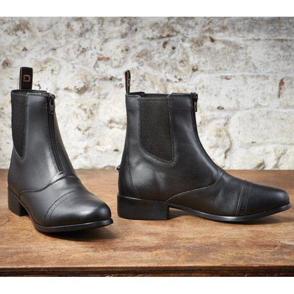 botas negras de Dublín elevación Cremallera Jodhpur (tamaños Reino Unido)
