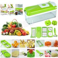 12 Super Slicer Plus Vegetable Fruit Peeler Dicer Cutter Chopper Nicer Grater Us