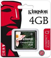 Kingston 4gb Cf 4g Compact Flash Memory Card High Speed Cf/4gb Retail