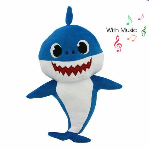 Baby Shark Cartoon Plush Toys Soft Singing Dolls Cute Gift for Kids Boys Girls