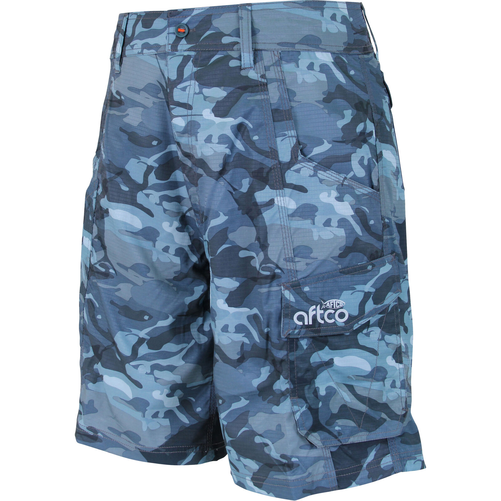 AFTCO Tactical Fishing Short, bluee Camo, 38