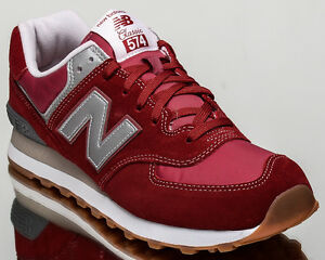 New Balance 574 NB NB574 men lifestyle casual sneakers NEW red ML574 ... 3d0654c43924