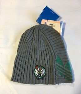 Boston Celtics Knit Beanie Toque Skull Cap Winter Hat NEW NBA Grey ... 04c7a89708a