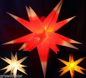 BIG 65cm 3D Außenstern außen Stern Kunststoff Adventsstern Weihnachtsster<wbr/>n XXL