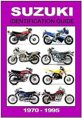 SUZUKI Motorcycle Identification Guide GT750 T500 T125 TS250 A50 etc 1970 -  1995 | eBay