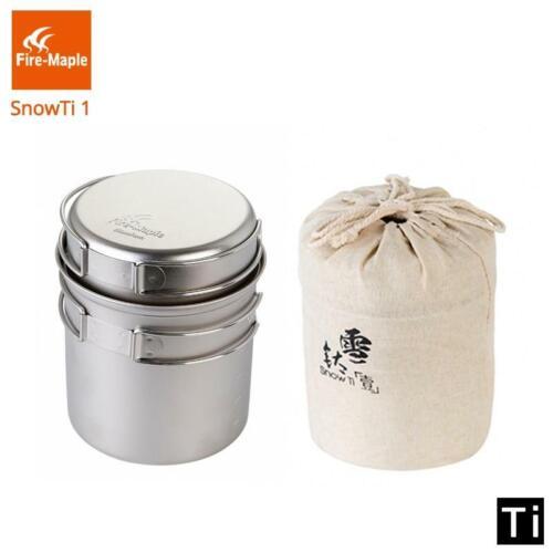 FIRE MAPLE snowti 1 Ultralight Titane Léger Camping Cookware