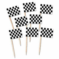 Checkered Flag Auto Racing Party Picks 12 Ct.