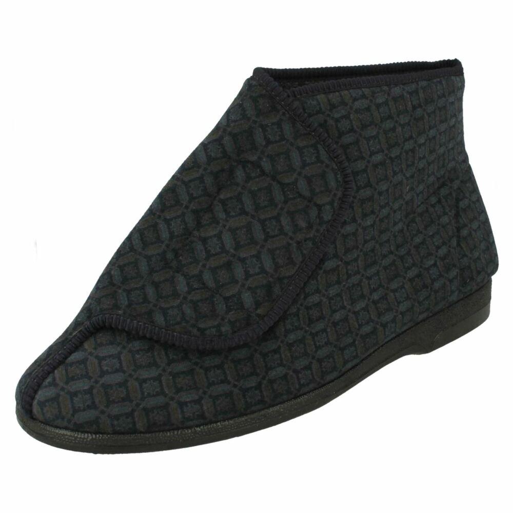 Amical Hommes Balmoral Velcro Bootie Slippers Viewer M46 Une Grande VariéTé De ModèLes