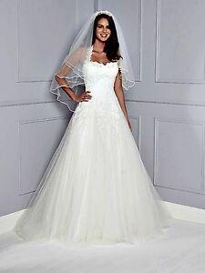 Image Is Loading Amanda Wyatt Peonie Princess Style Boned Wedding Dress