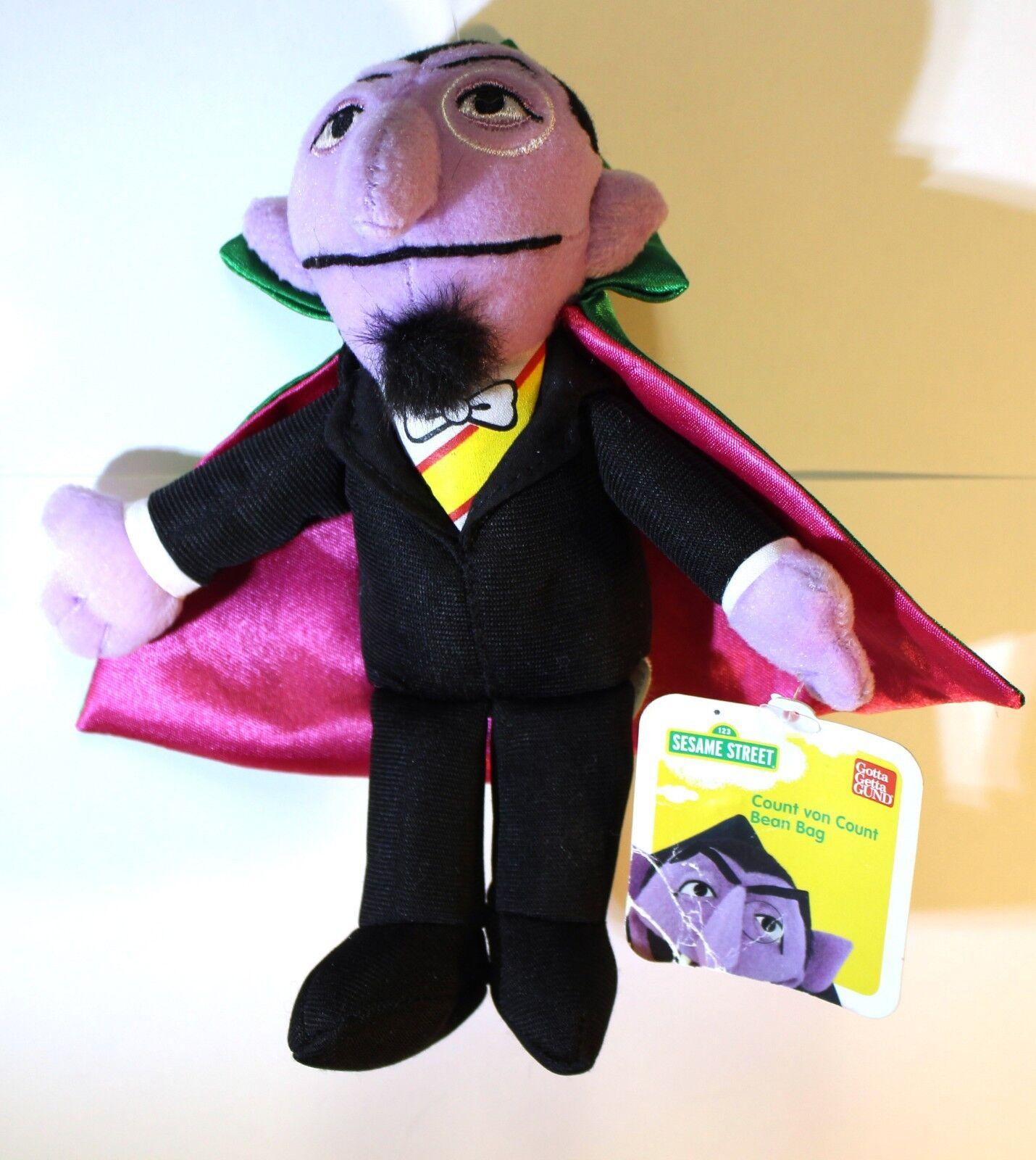 Gund Sesame Street Count Von Count Beanbag Stuffed Animal Animal Animal 7  NWT RARE HTF NEW 2af6d6